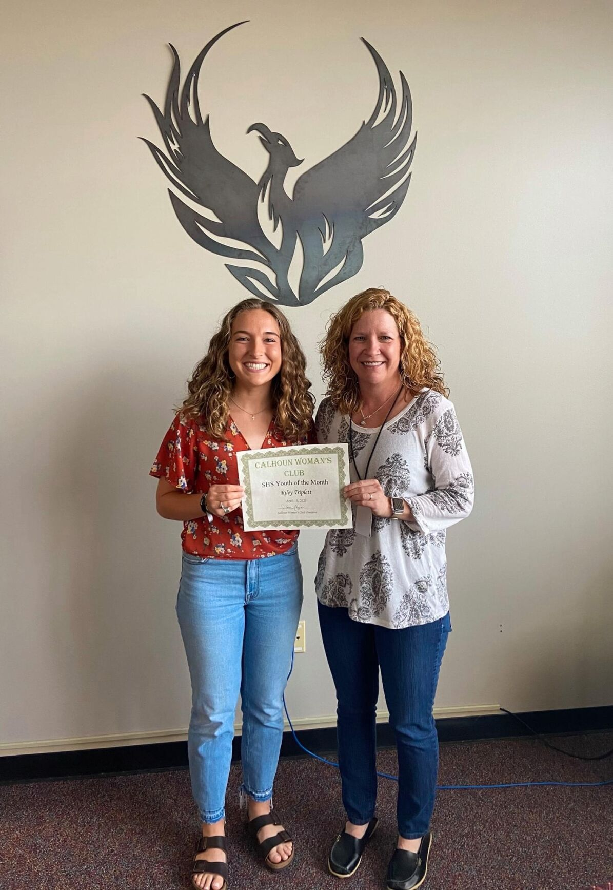 Calhoun Woman's Club April Youths of the Month - SHS
