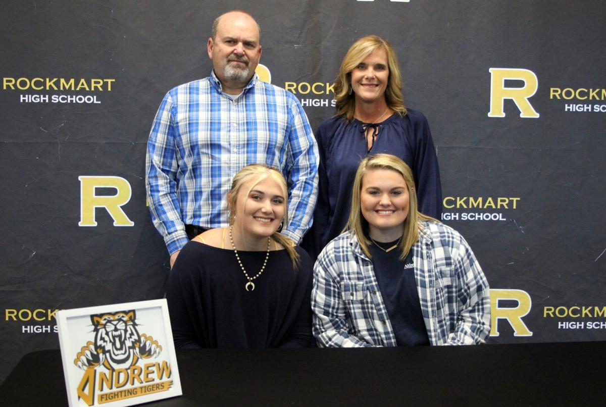 Rockmart softball players sign scholarships