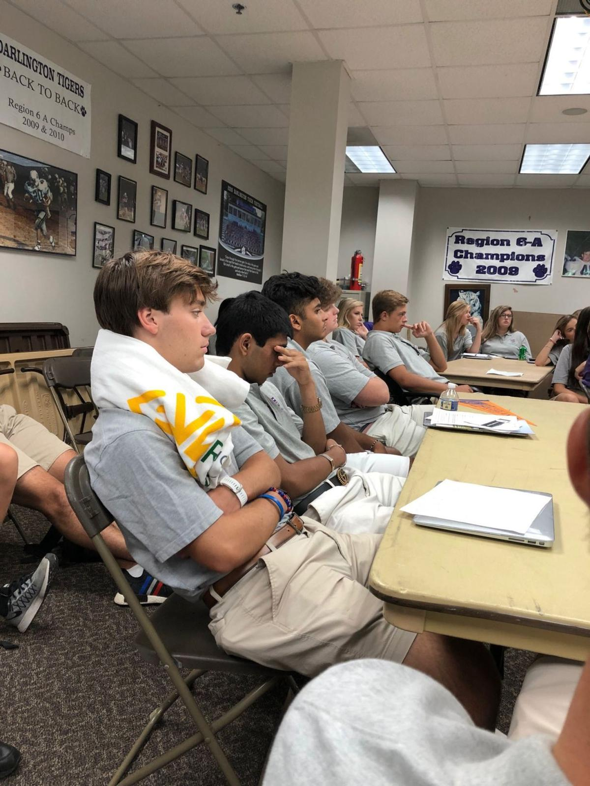Darlington seniors spend first day of school at College Boot Camp