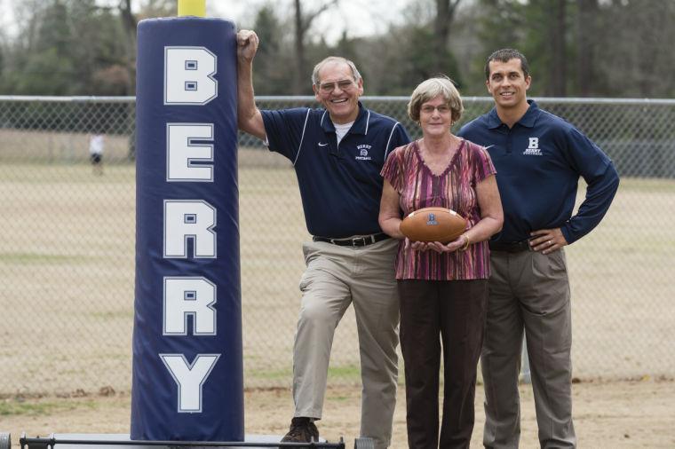 Bob and Kay Williams with Berry Coach Tony Kunczewski