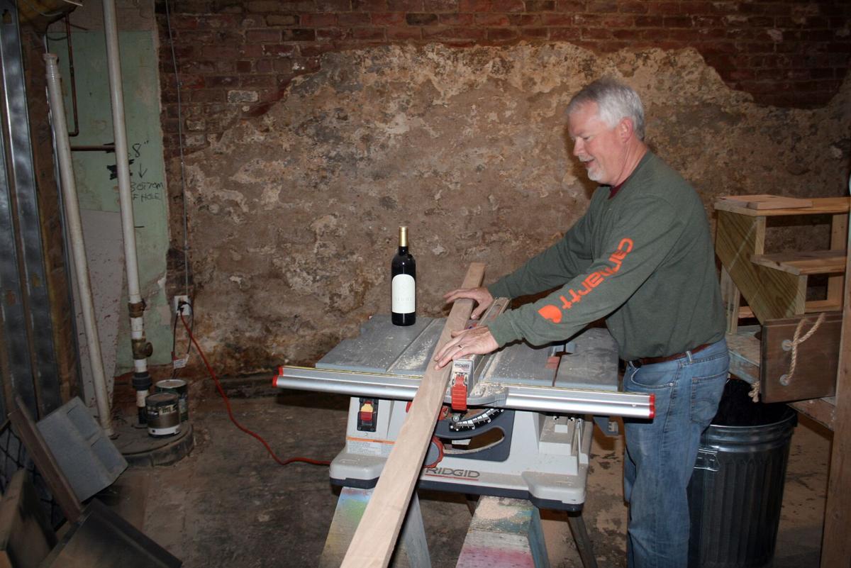 Newby working on wine tasting room