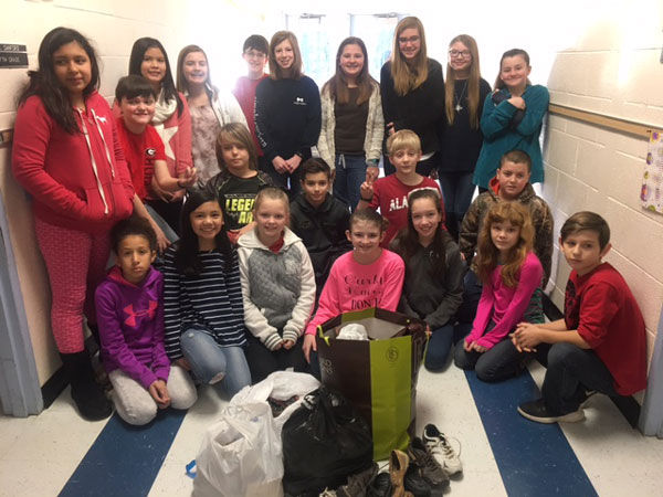 Students At Garden Lakes Elementary School Collect Shoes For Those In Need Education