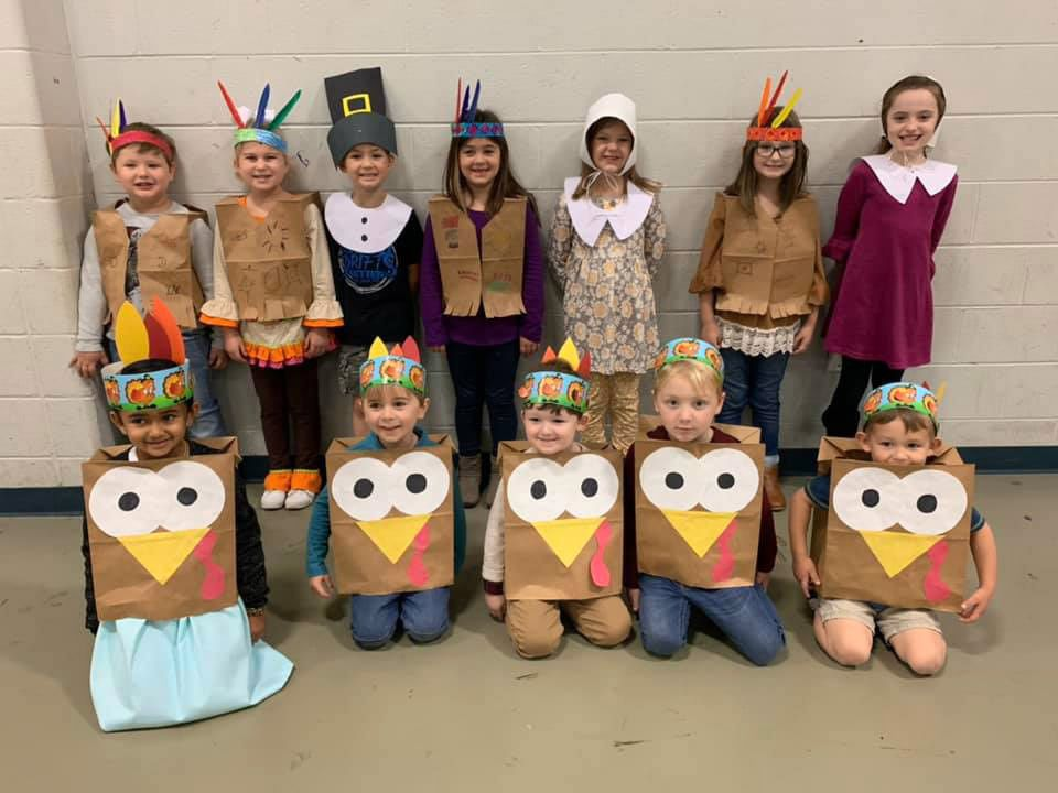 CCS students put on Thanksgiving program