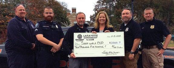 LaFayette Optimist Club donation
