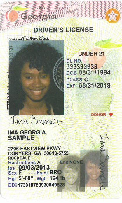 yellow star on ga drivers license