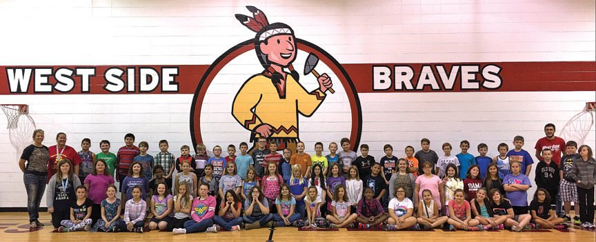 Fifth-graders at Westside Elementary