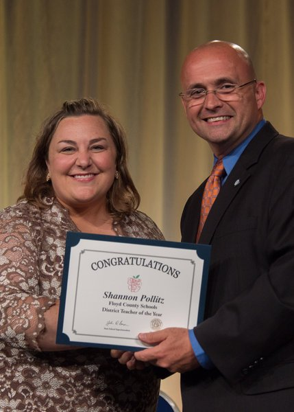Floyd Teacher of the Year honored at state banquet of top teachers
