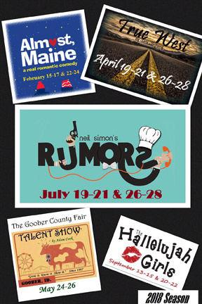 Ringgold Playhouse's 2018 season lineup