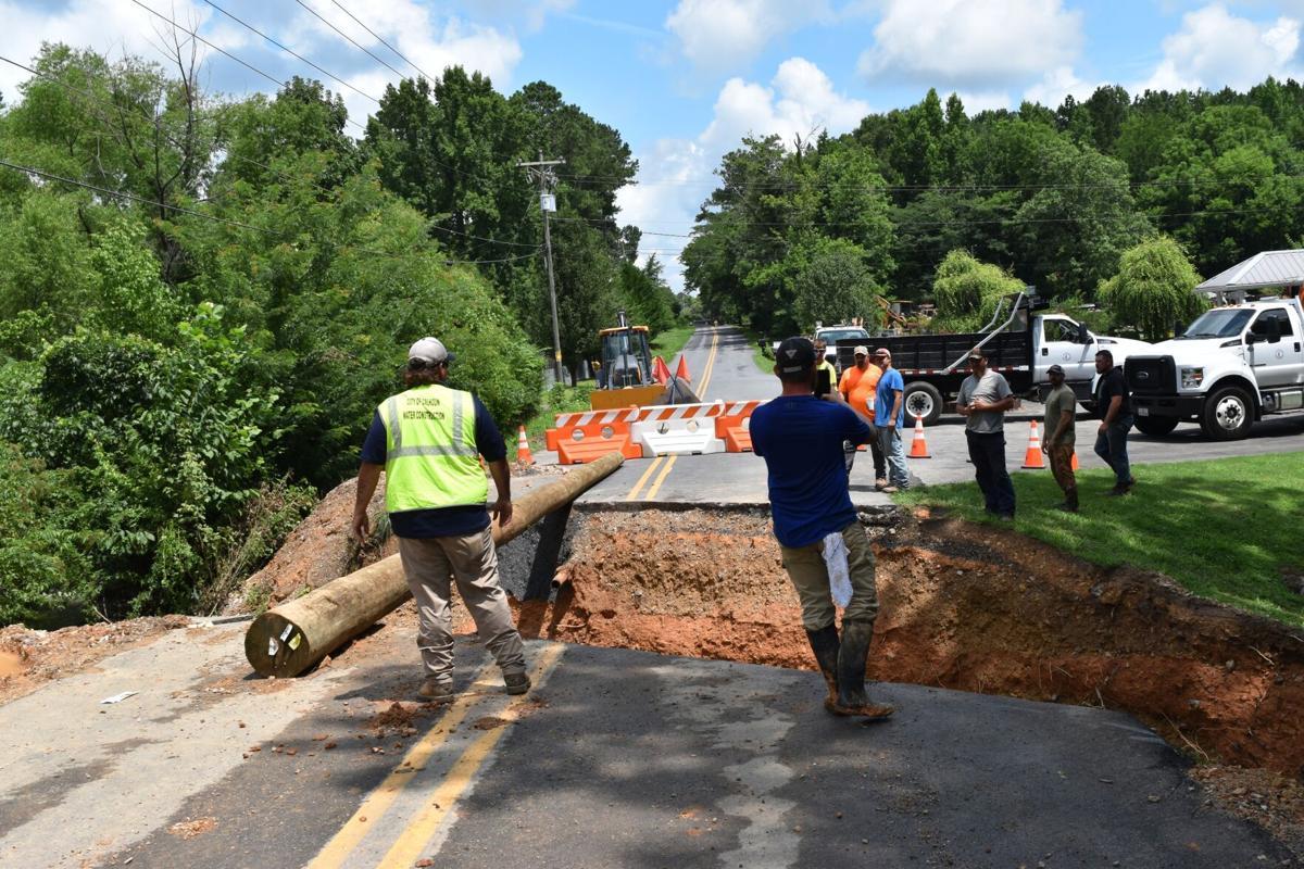 Newtown Creek Loop washout repair underway