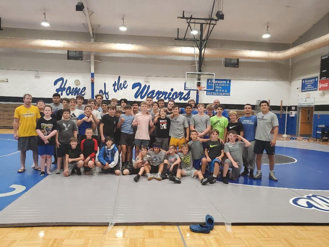 52 participate in Warrior wrestling camp