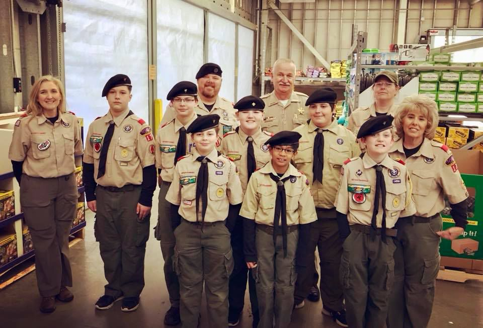Aragon Troop 17 helps out with Shop with a Cop