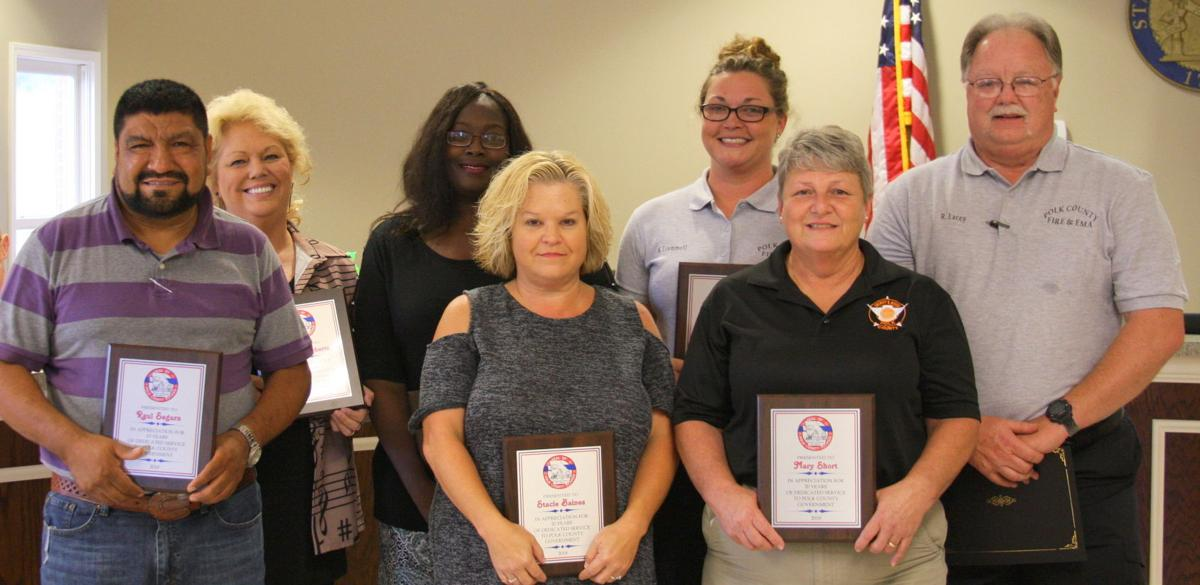 Polk County Employees recognized for longevity - Sept. 2018
