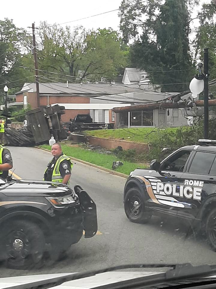 Dump truck wreck on South Broad blocks road Wednesday morning