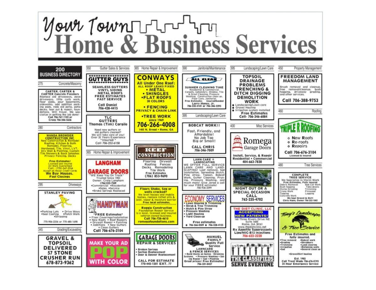 Classified Business and Service Directory