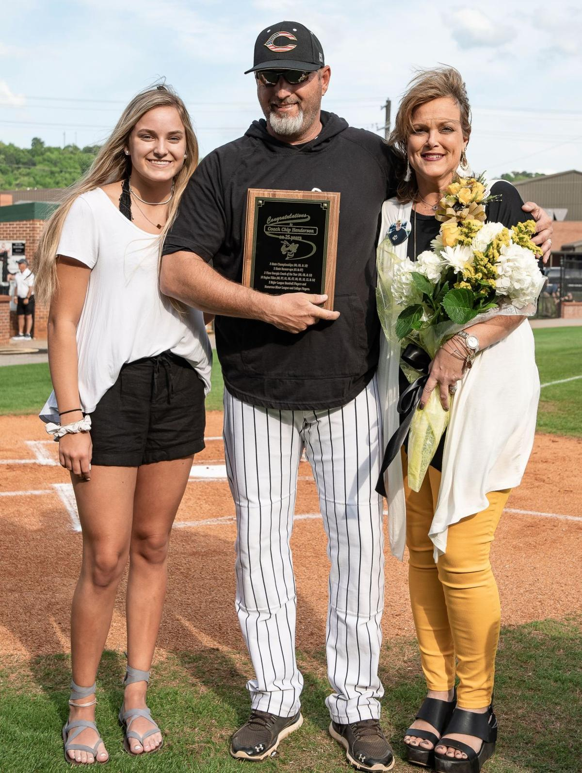 Calhoun Baseball honors seniors, staff member and coach Henderson
