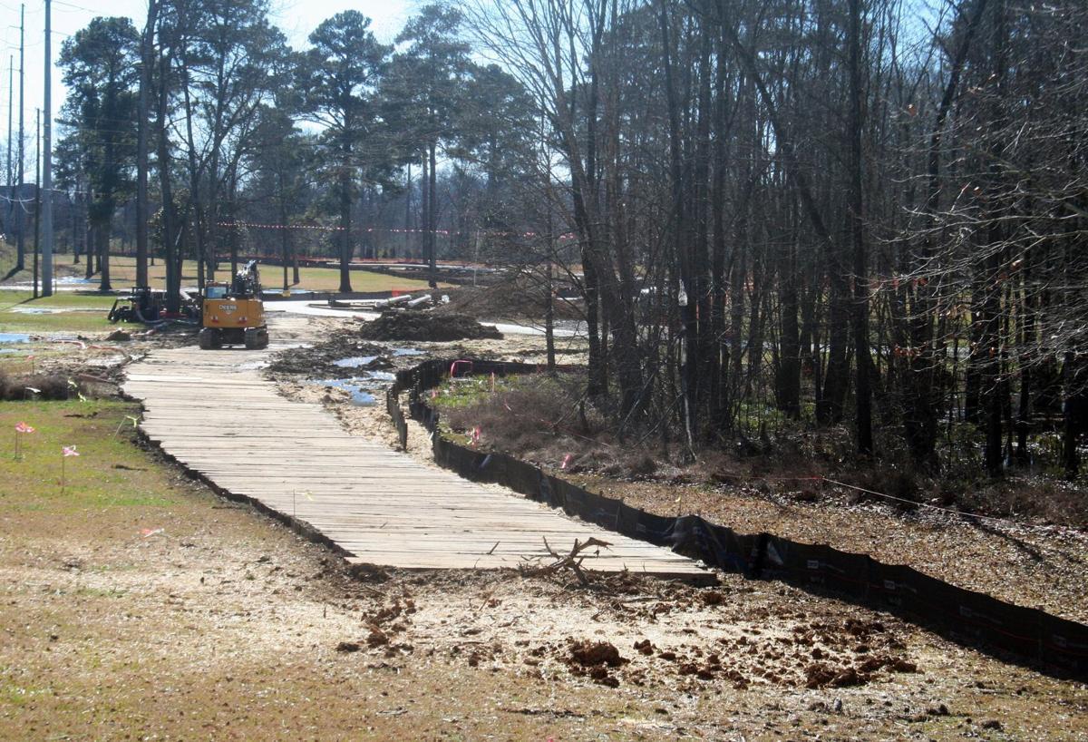 Pipeline construction moving through Ridge Ferry Park