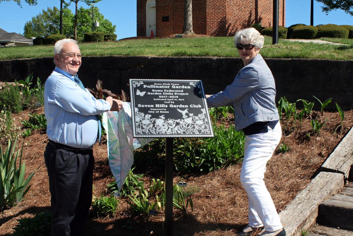 Rome Clocktower Pollinator Garden dedication