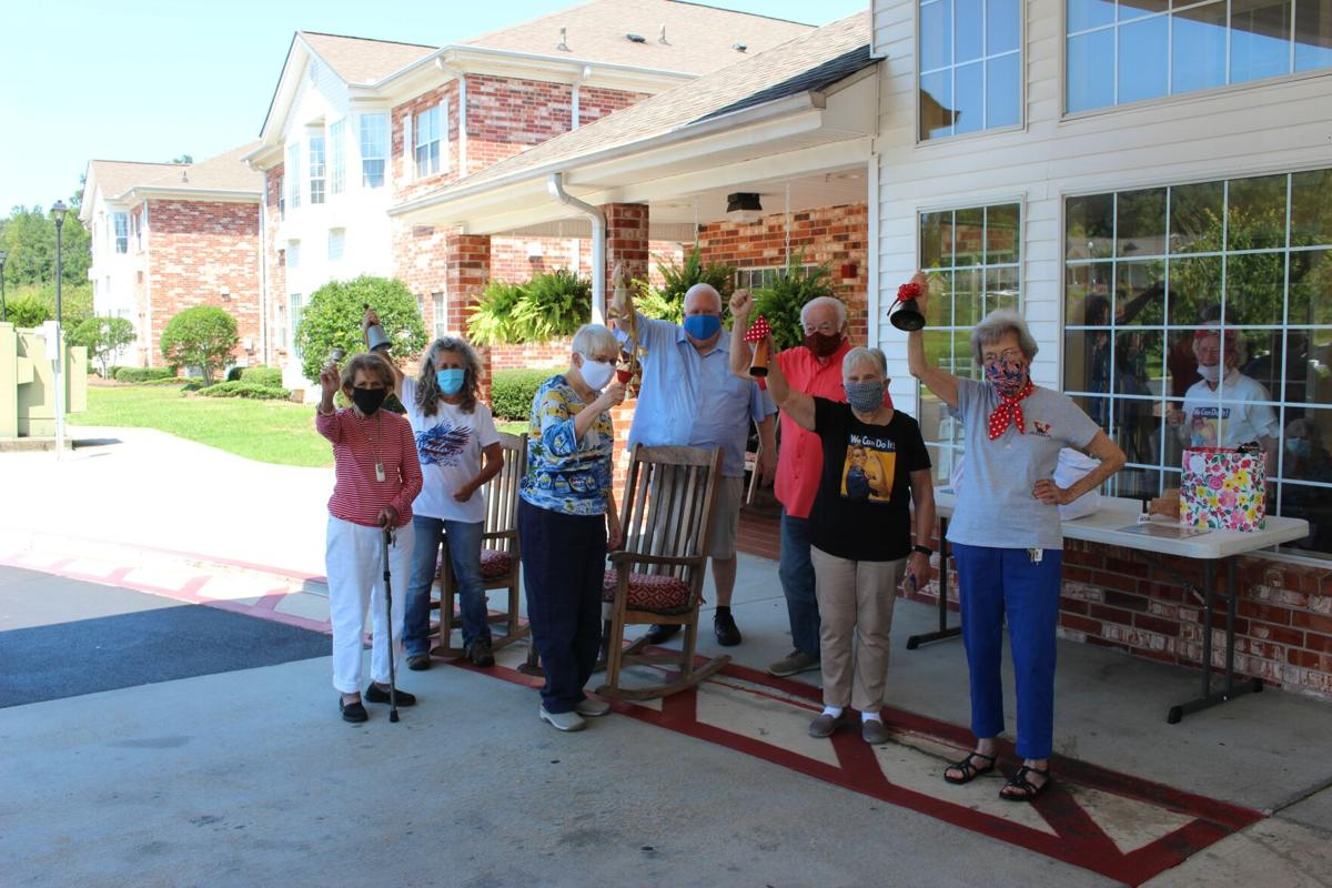 Rosie the Riveters celebrate 75th anniversary of the ending of World War II by ringing bells