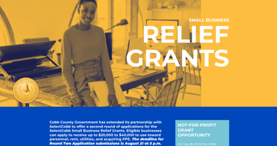 Cobb small biz grant webpage