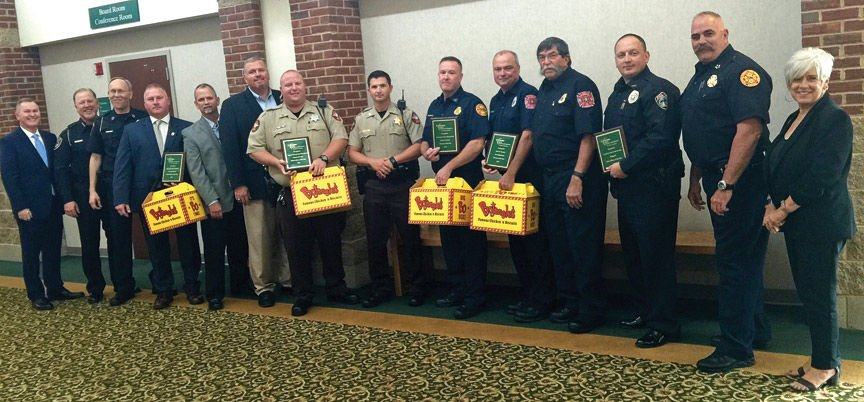 Police officers, firefighter honored