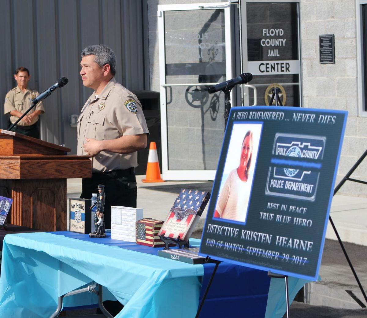 Sheriff's Office officially dedicates training center to Kristen Hearne, celebrates Wall of Honor