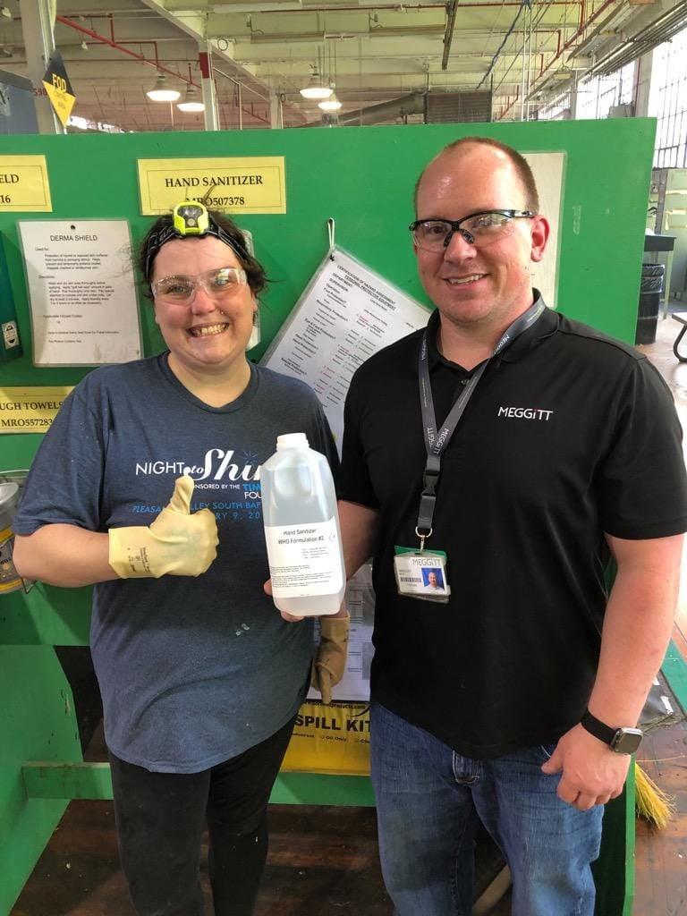 Meggitt Polymer and Composites helps provide hand sanitizer