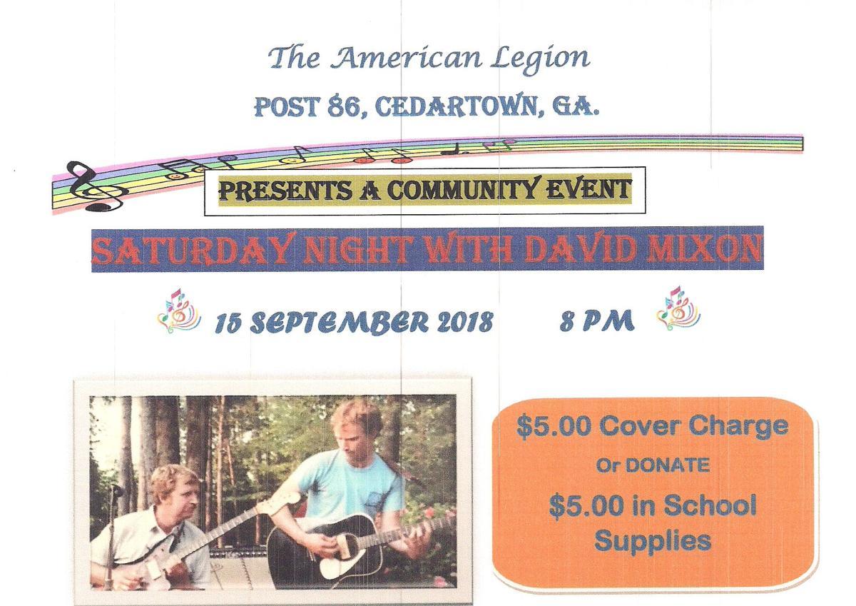 """Saturday Night with David Mixon"" at American Legion Post 86"