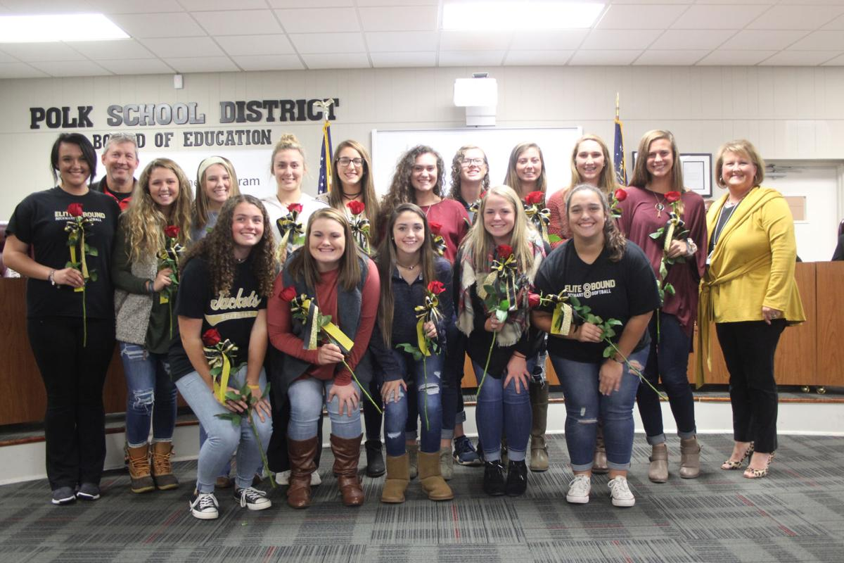 Rockmart Lady Jackets honord by school board