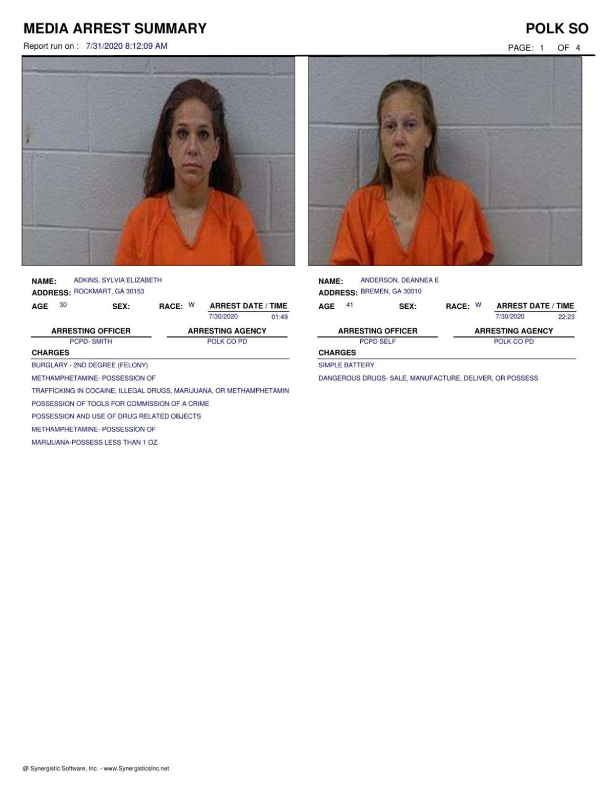 Polk County Jail Report for Friday, July 31