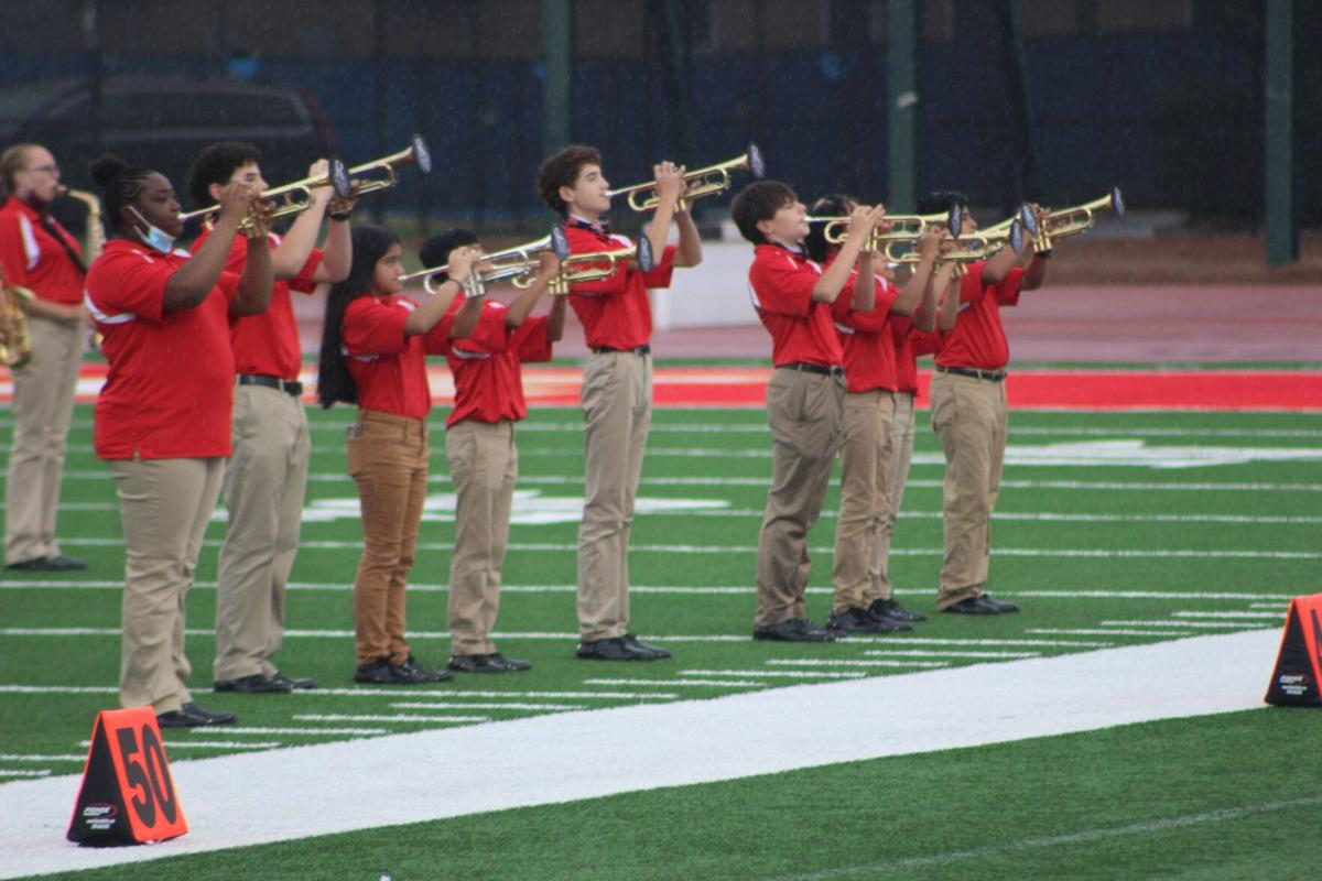Peach State Marching Festival bands undeterred by rain