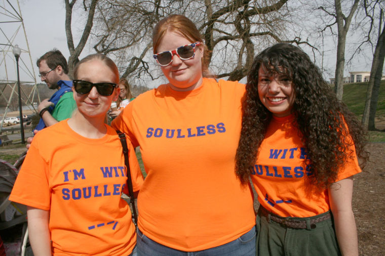 f0b06dc8e4 Courtney Gurley (from left), Stacie Bettinger and Jenn Fortnash celebrate  gingers at Saturday's Ginger Pride parade. Their shirts are a reference to  the TV ...