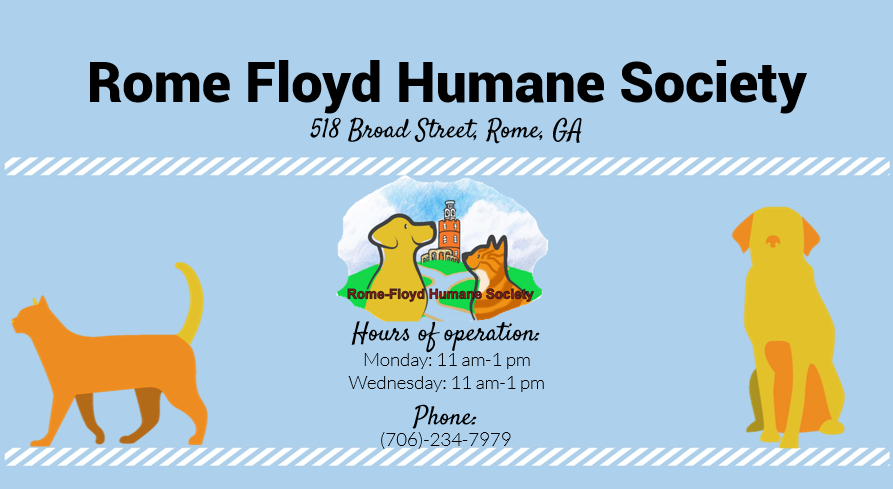 Rome-Floyd Humane Society info graphic