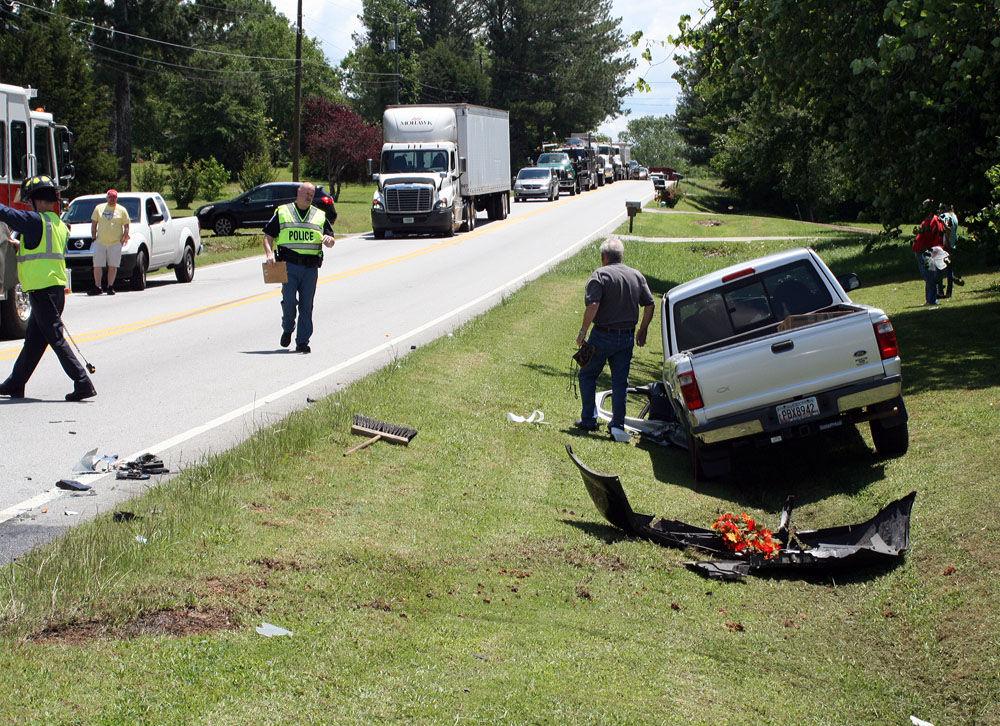Wreck at  Ga. 140, Floyd Springs Road