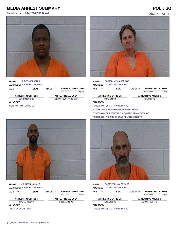 Polk County Jail Report for Wednesday, June 24