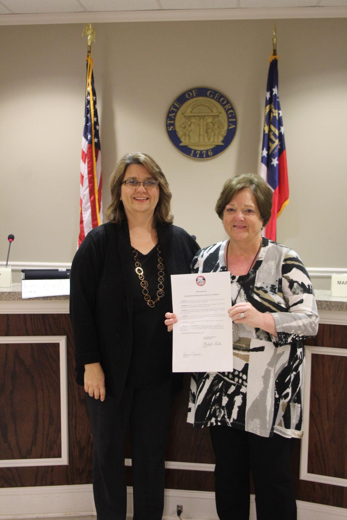 Polk County Commission honors retired teachers