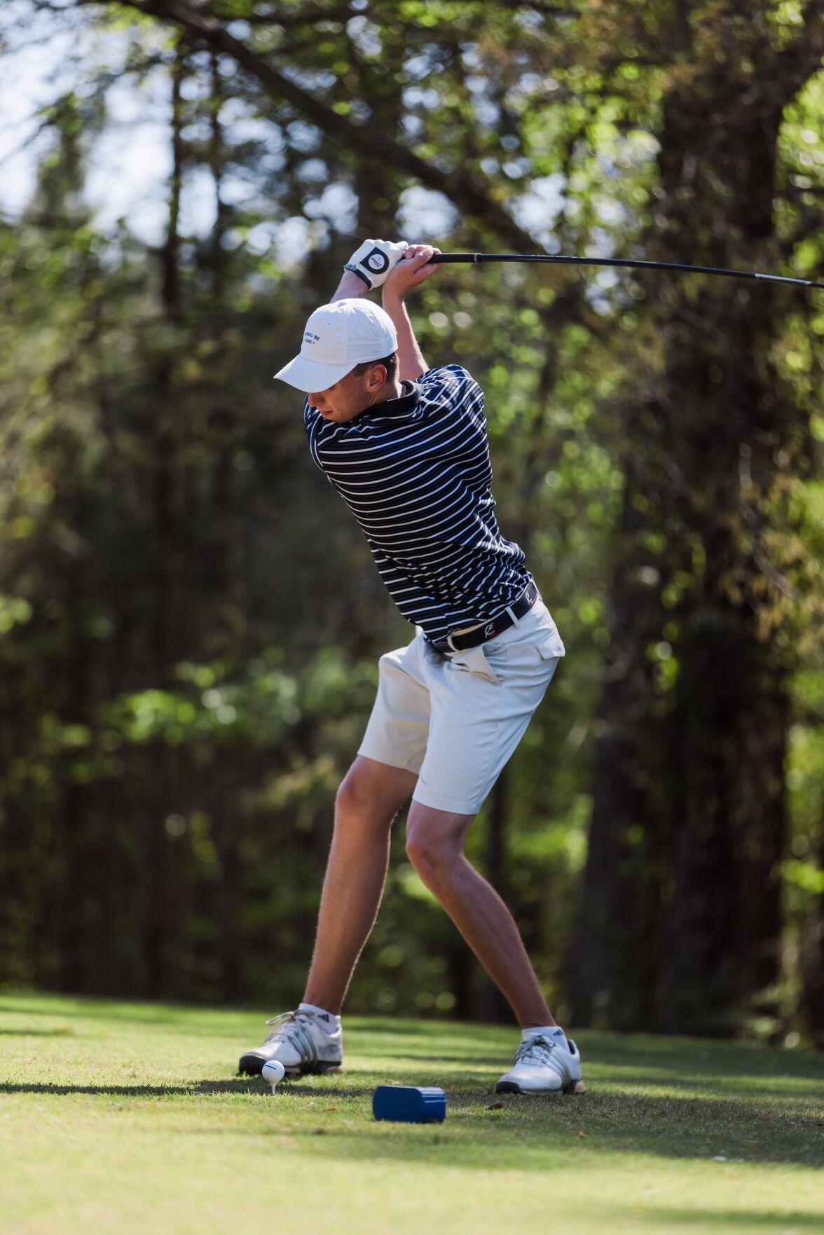 Rome Wolves Golf - Hogan Ingram winds up for a swing