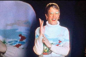 upton appeared as a sign language interpreter for the christmas candle sketch