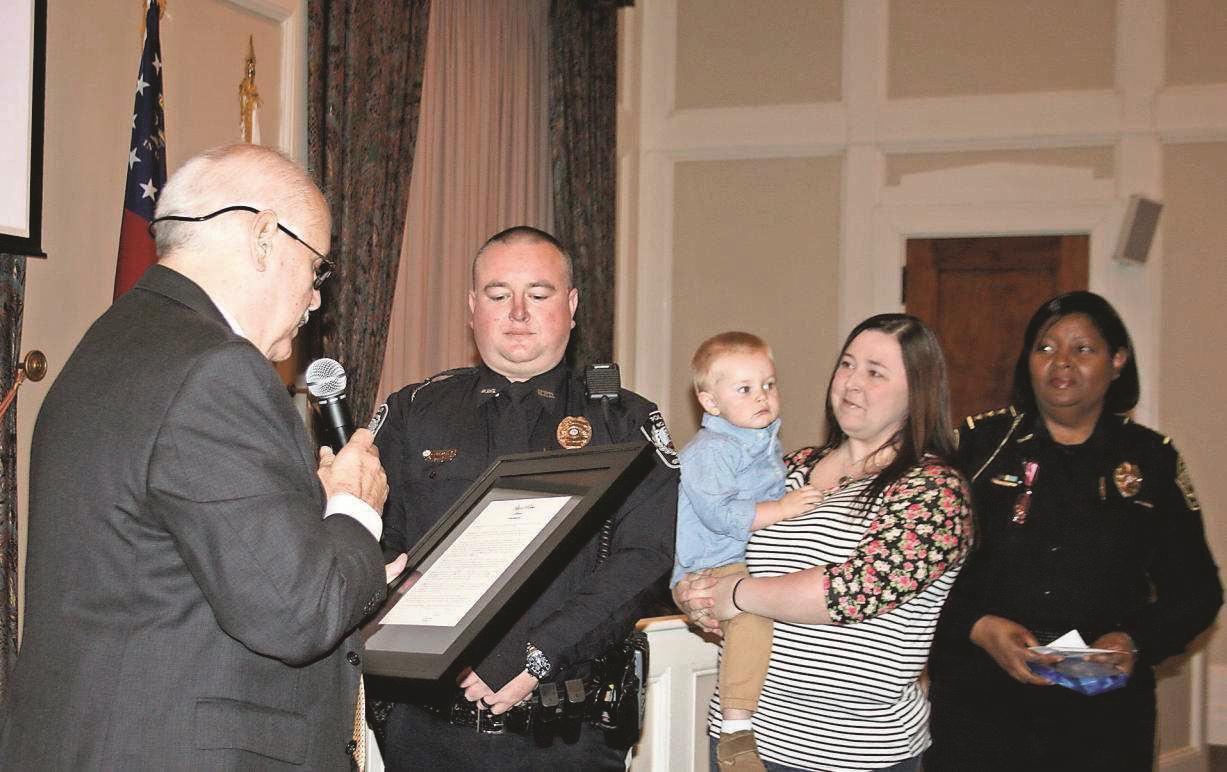 Burnes named Officer of the Year