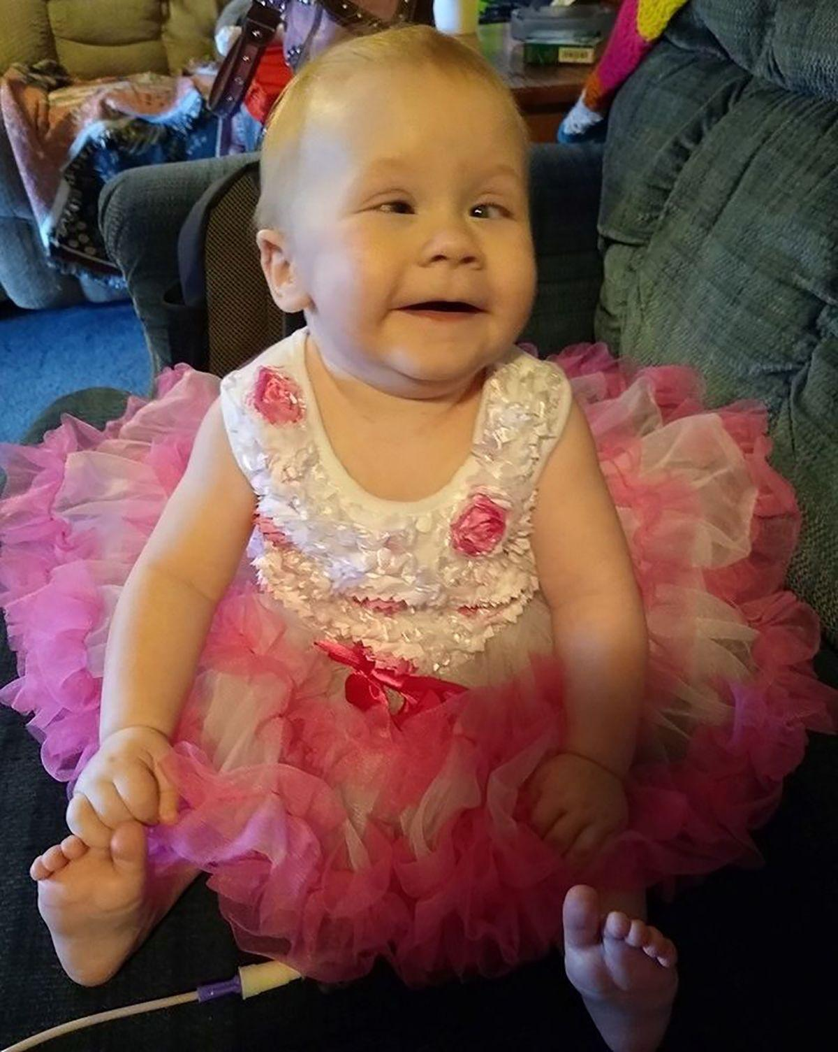 Baby Di'laine Marie Gaucher Disease 1st birthday