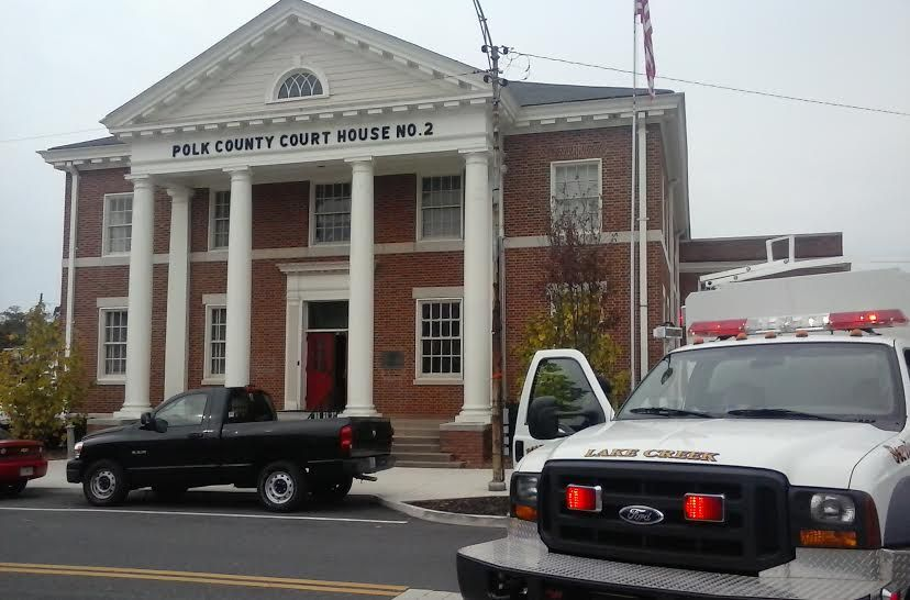 Polk county courthouses evacuated for bomb threat for Polk fish wrap