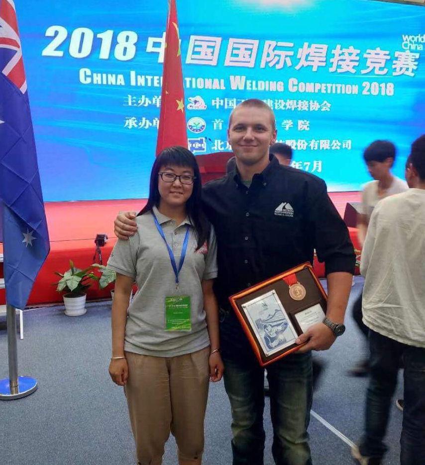 Ryan Fincher wins bronze at Beijing welding competition