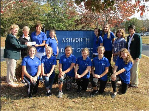 GWGA presents grant to Ashworth