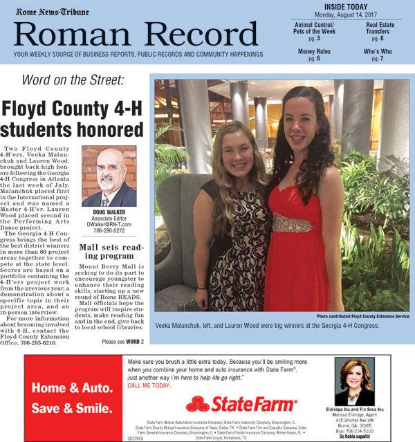 Roman Record for Aug. 14