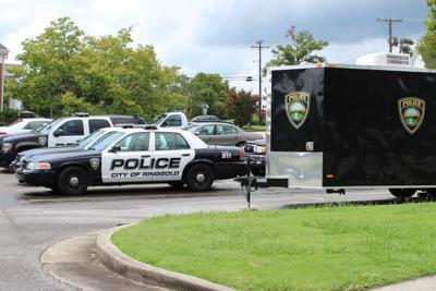Officer struck