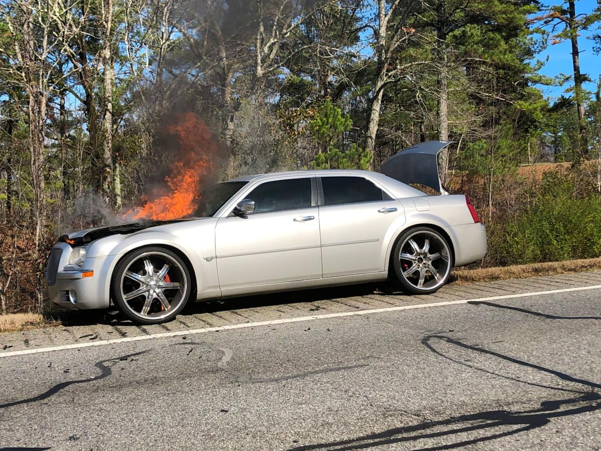 Owner escapes safely after car fire