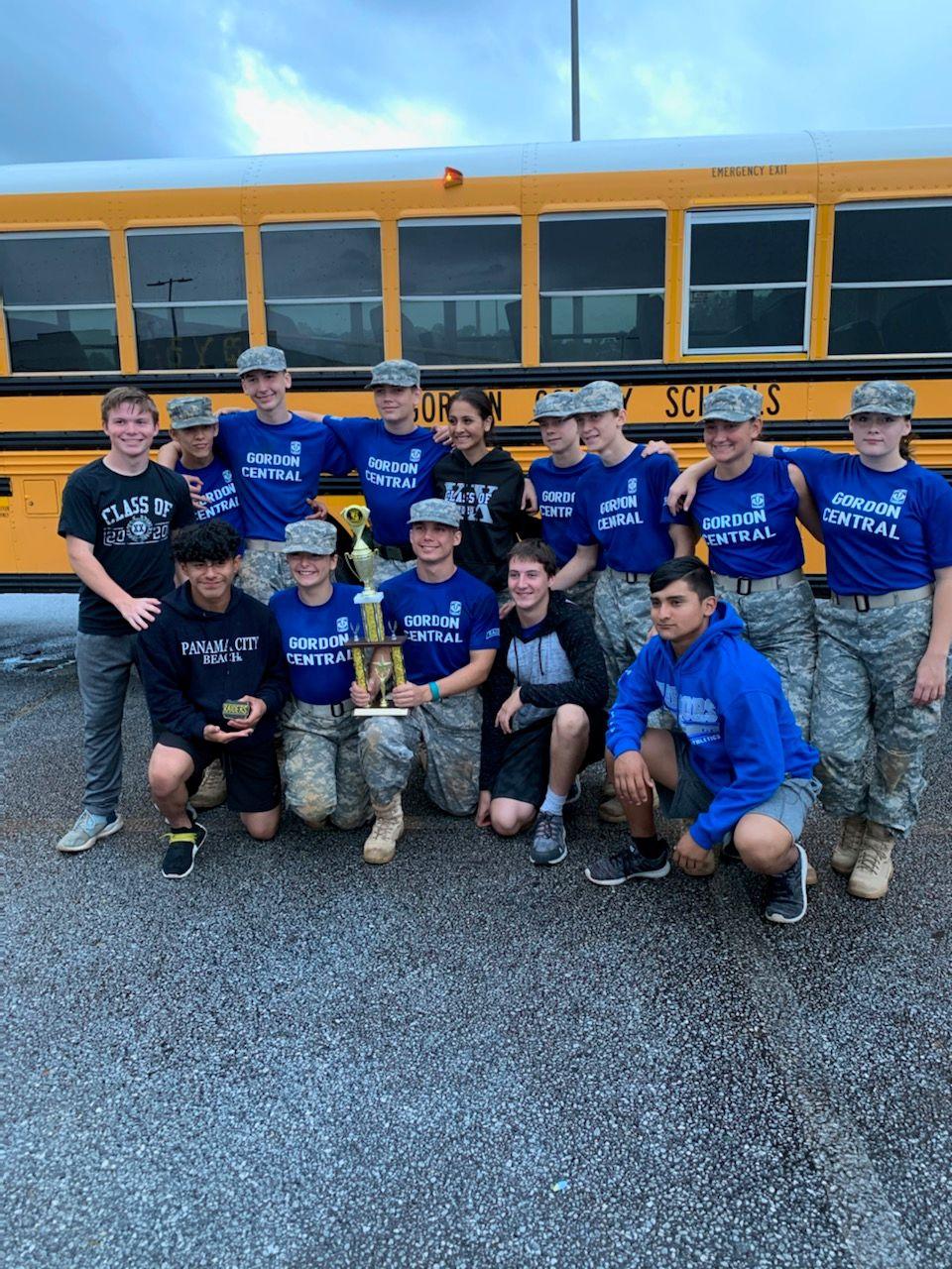 Gordon Central High School JROTC Raiders at State Meet 2019
