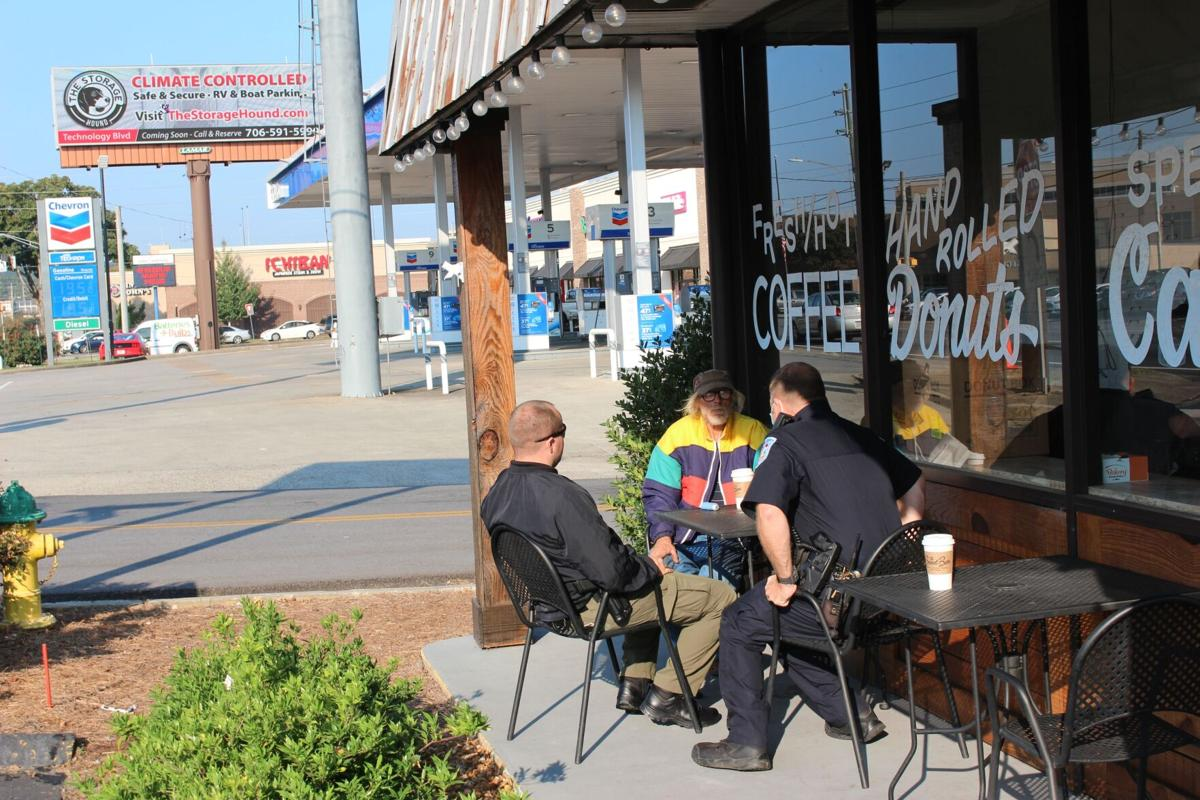 Cops, coffee and doughnuts at Sweet Bar