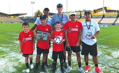 Calhoun at Josef Martinez Soccer Camp