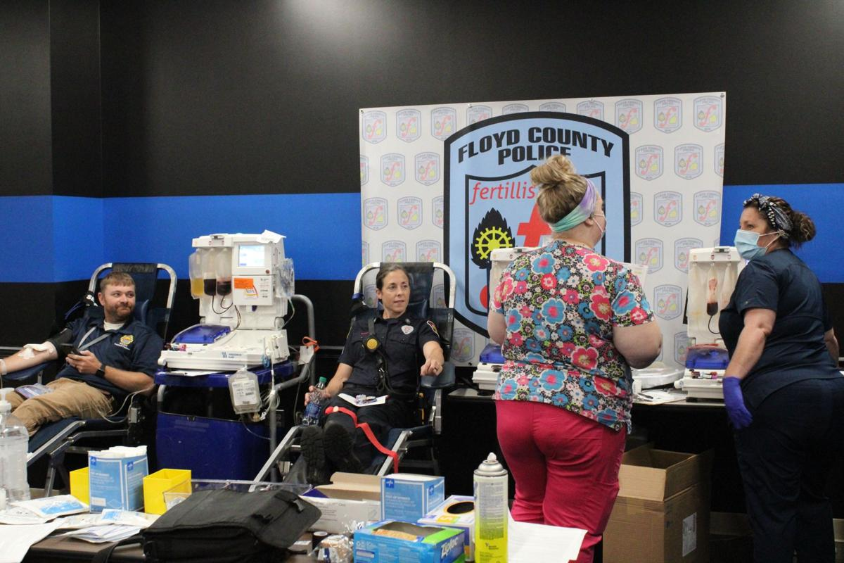 First responders, county workers participate in blood drive at law enforcement center