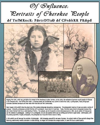 Chieftains to present 'Of Influence: Portraits of Cherokee People' photo exhibition